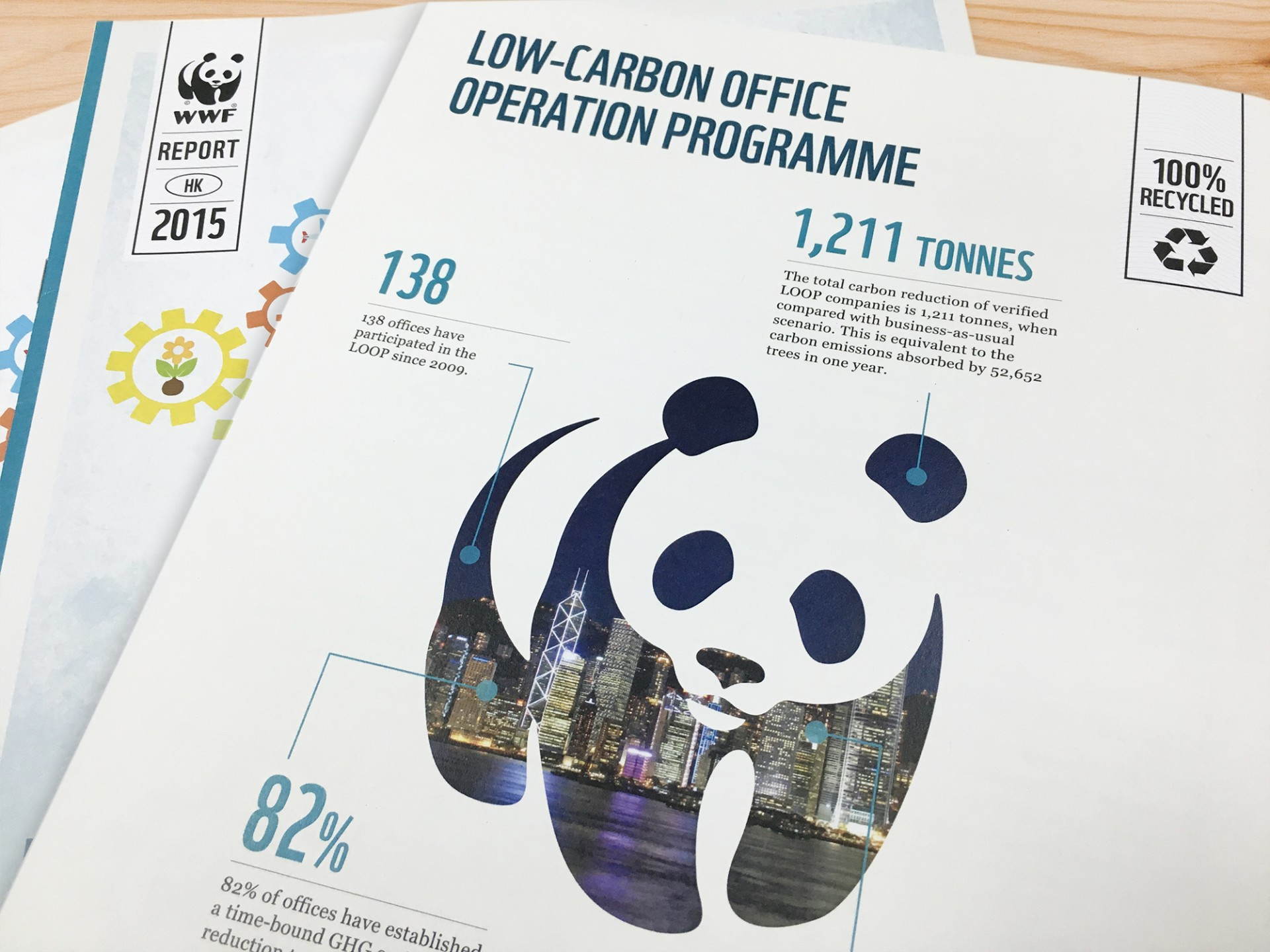 WWF - Low-Card Office Operation Programme Report, Infographic Design